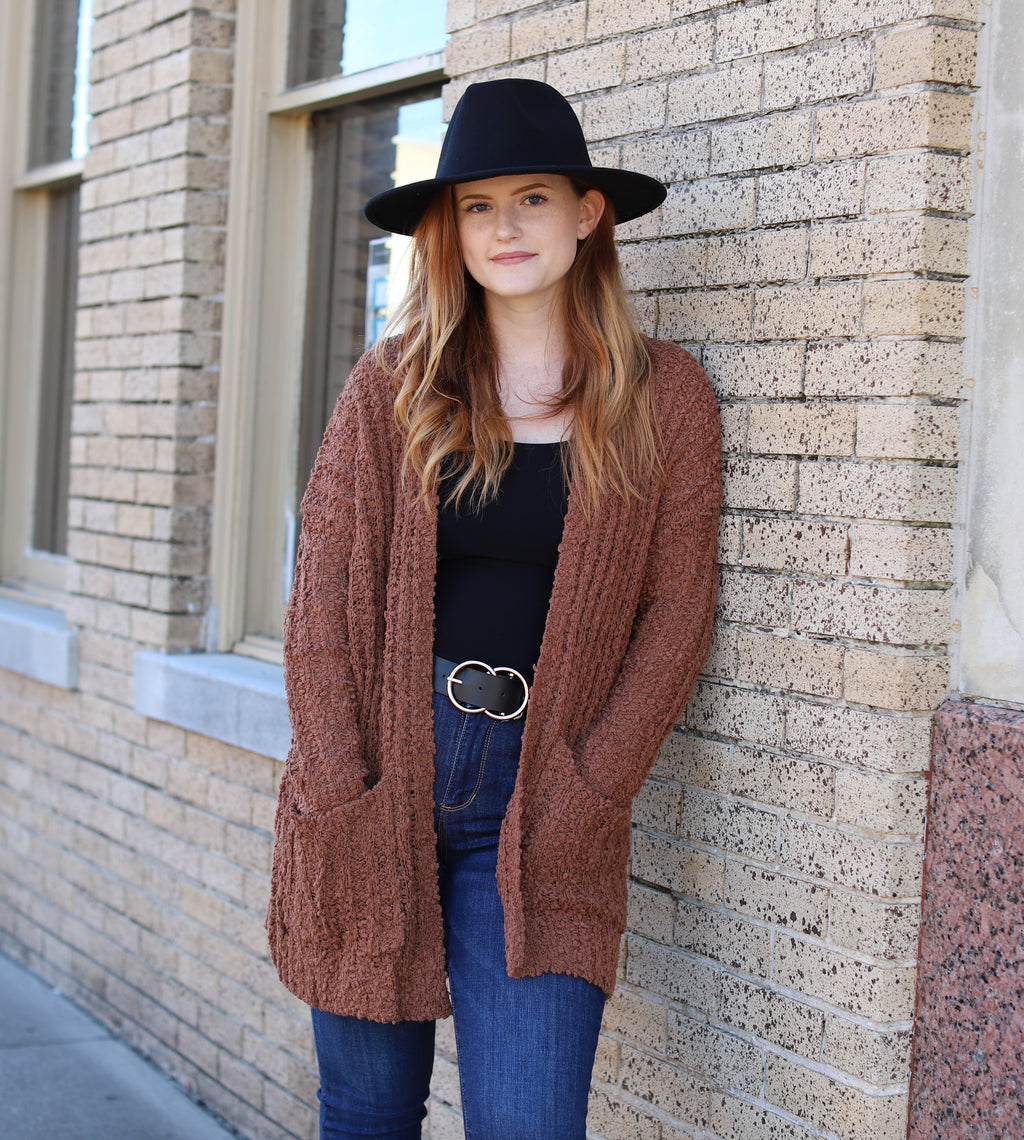 Camel Open Cardigan