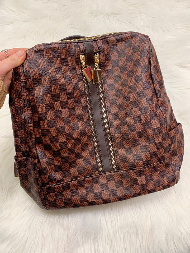 Tory Checkered Backpack