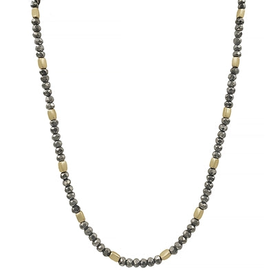 Crystal With Gold Nugget Necklace