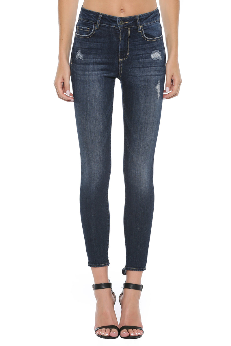 Emma Dark Wash Skinny Jeans-Cello