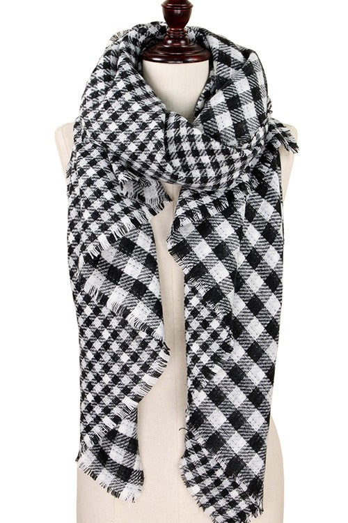 Black Buffalo Check Scarf