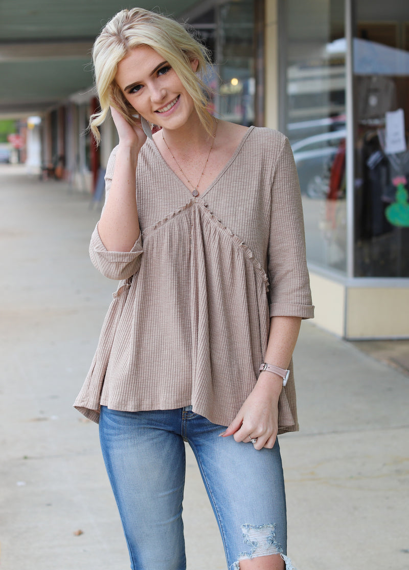 Button Back Tunic Top