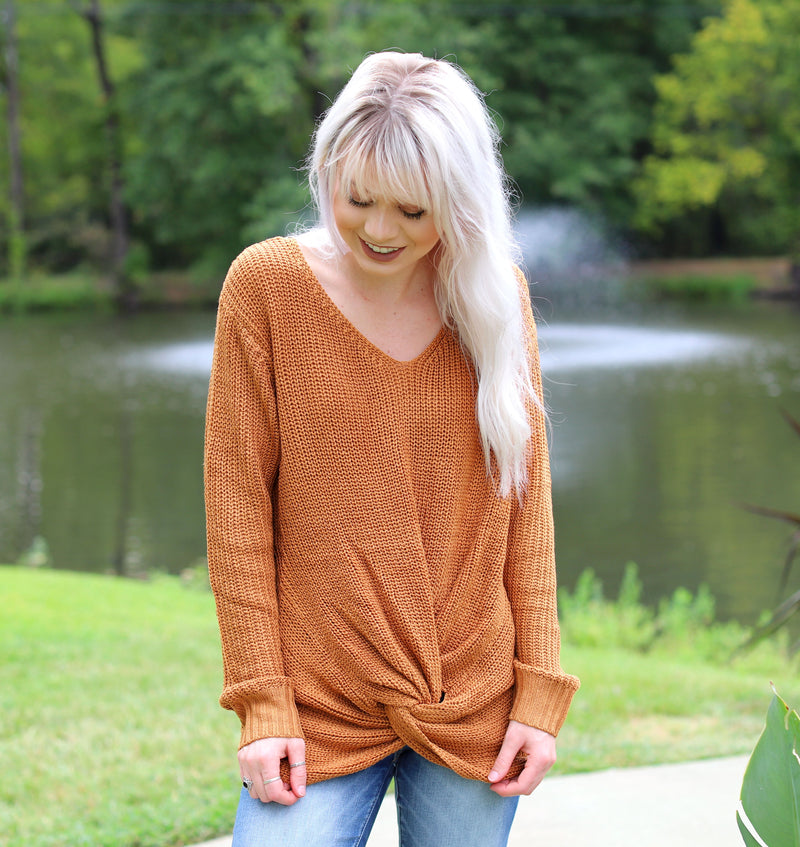 Caramel Twist Sweater