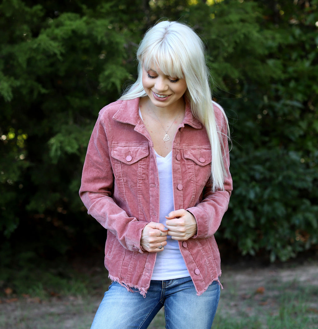 Blush Corduroy Jacket