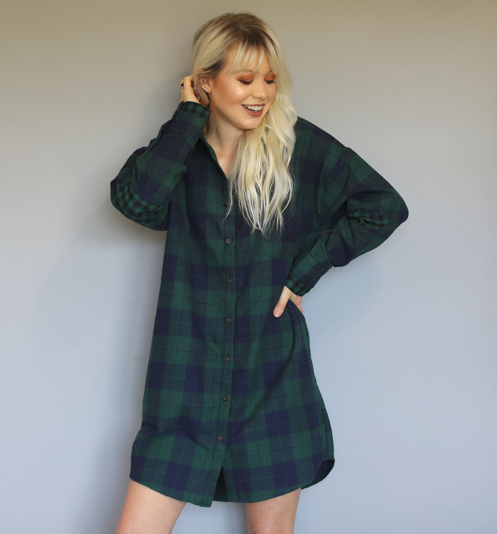 Forest Button Down Dress