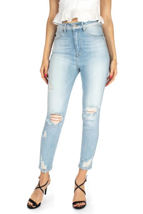 Tillie Distressed Skinny Jeans-KanCan
