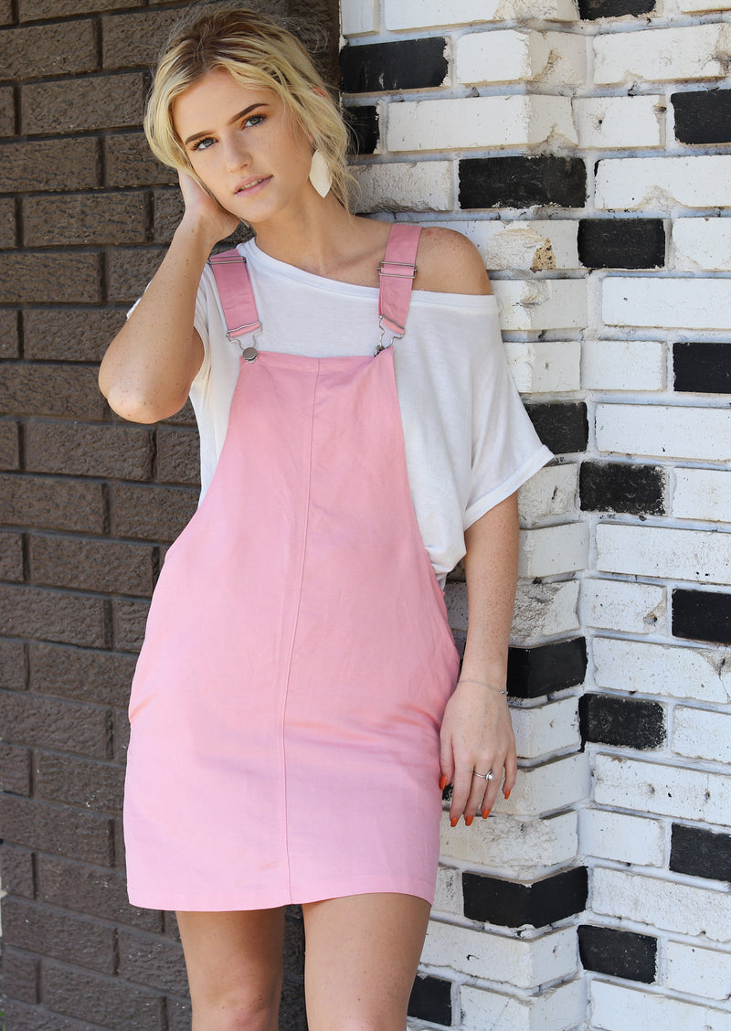 Blushing Overall Dress