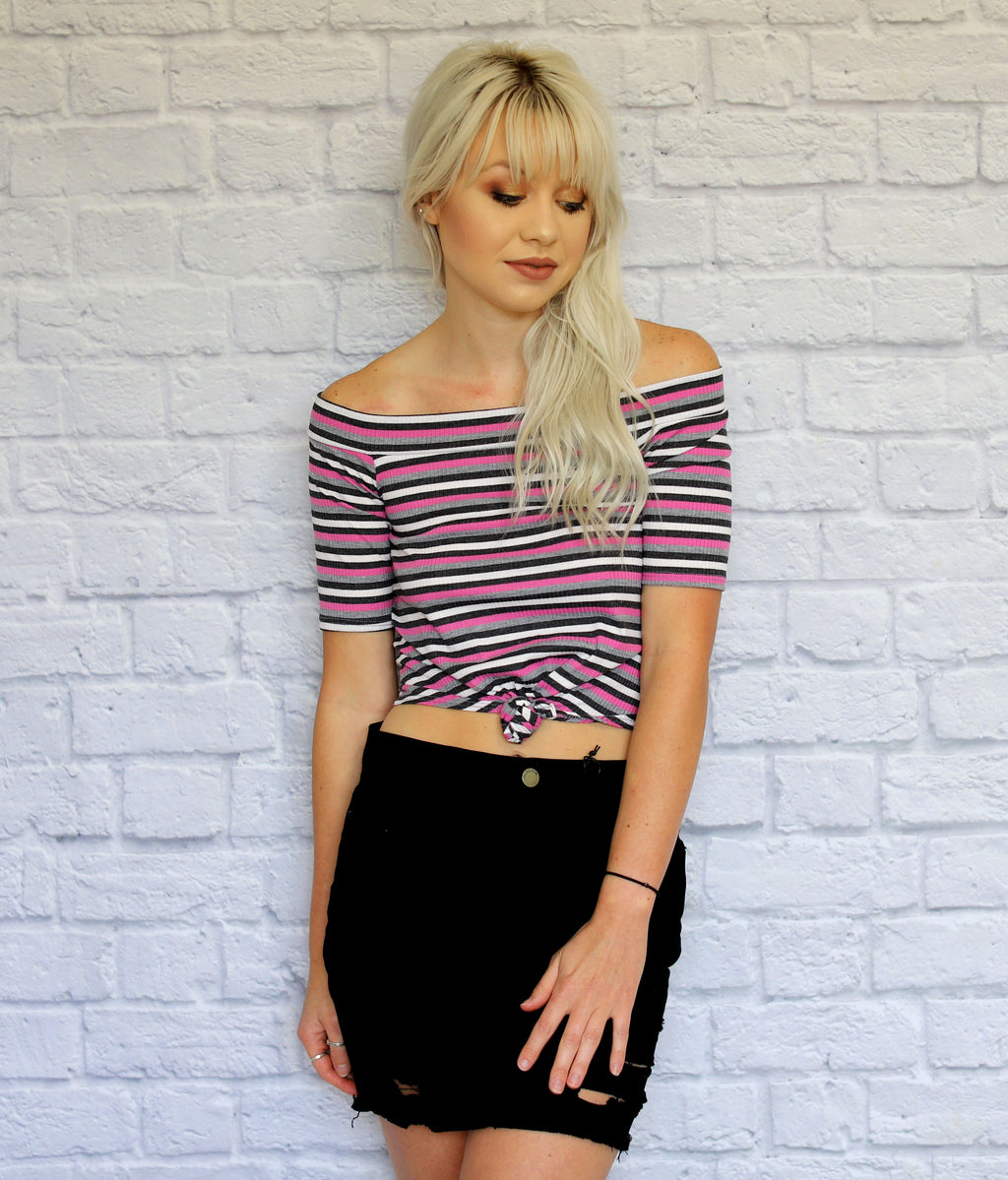 Stripes on Stripes Crop Top