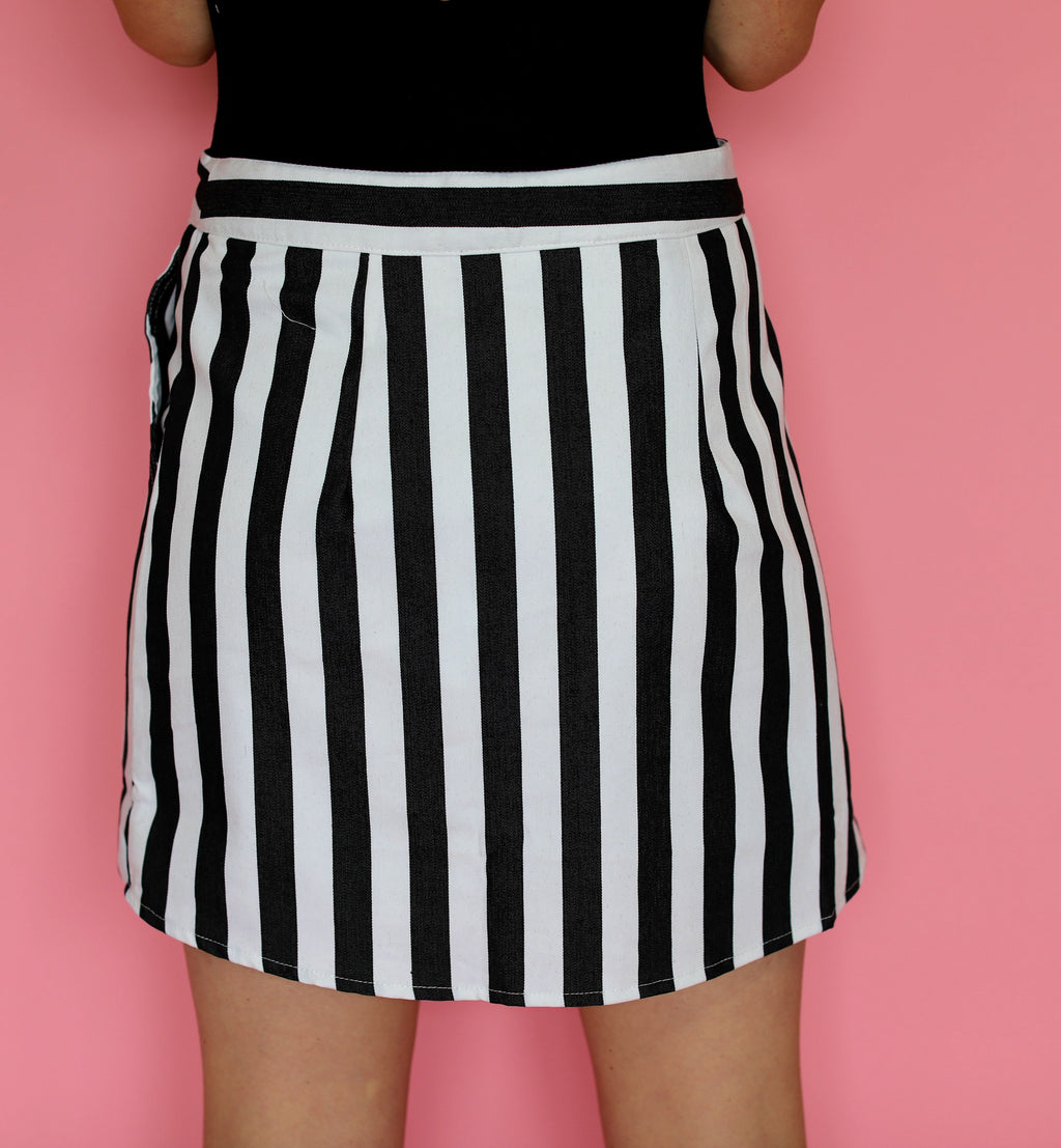 Striped Wrap Skirt
