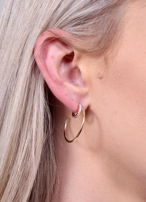 Double Row Hoops Gold
