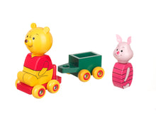 Load image into Gallery viewer, Winnie the Pooh & Piglet Cart - The Toy Cupboard, Tavistock, Devon