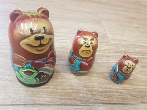 Russian Doll Set- Bear - The Toy Cupboard, Tavistock, Devon