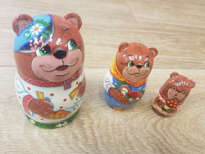 Russian Doll Set- Bear Family - The Toy Cupboard, Tavistock, Devon