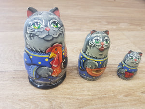 Russian Doll Set- Cat - The Toy Cupboard, Tavistock, Devon