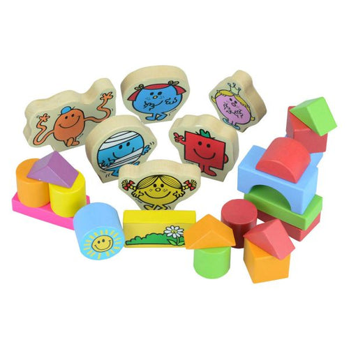 Mr Men 32 Piece Character Block Set - The Toy Cupboard, Tavistock, Devon