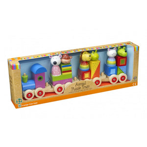 Animal Puzzle Train - The Toy Cupboard, Tavistock, Devon