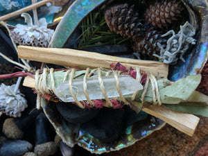 Sacred Smudge Wand Variety One Of A Kind Herbal Wand For Cleansing And Energy Clearing