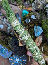 Load image into Gallery viewer, Sacred Smudge Wand Variety One Of A Kind Herbal Wand For Cleansing And Energy Clearing