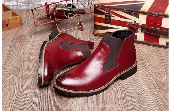 VL MENS BRITISH STYLE CHELSEA ANKLE BOOTS - VansLovers.com