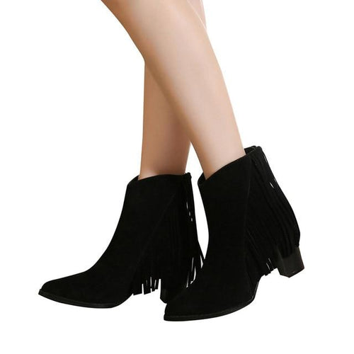 VL WOMENS FRINGE IT TO THE LIMIT BOOTIES - VansLovers.com