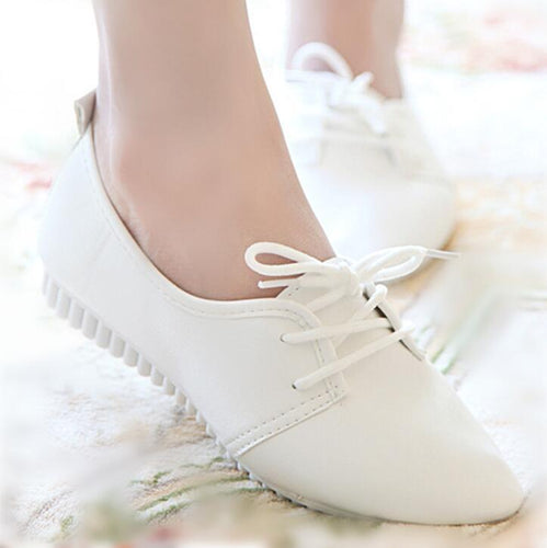 VL WOMENS CUTE CASUAL LACE-UP FLATS - VansLovers.com