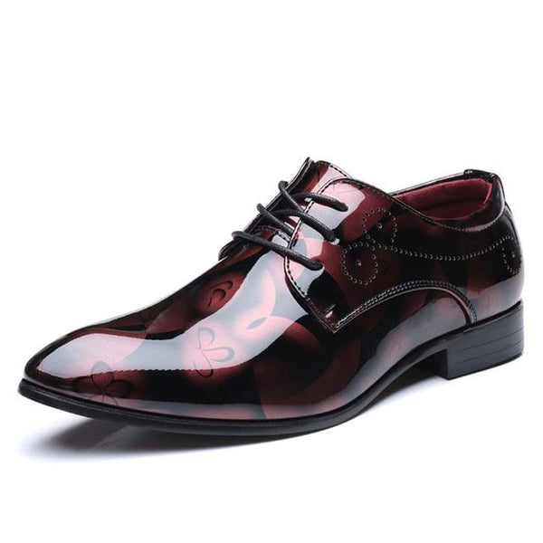 Leather Oxford Mens Formal Pointed Toe Dress Shoes - VansLovers.com