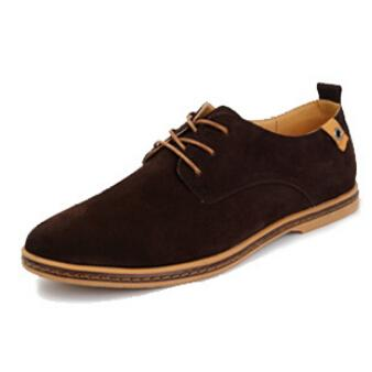 VL MENS CASUAL CLASSIC LACE UP SUEDE DRESS SHOES - VansLovers.com