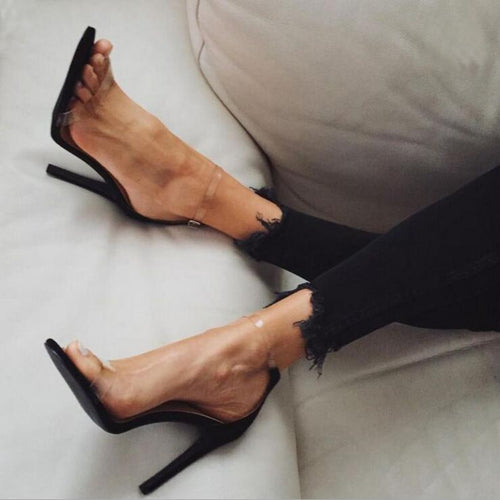 VL WOMENS BE TRANSPARENT HIGH HEELS - VansLovers.com