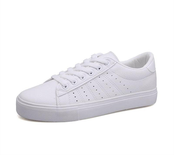 VL WOMENS CUTE CASUAL WHITE SNEAKERS - VansLovers.com