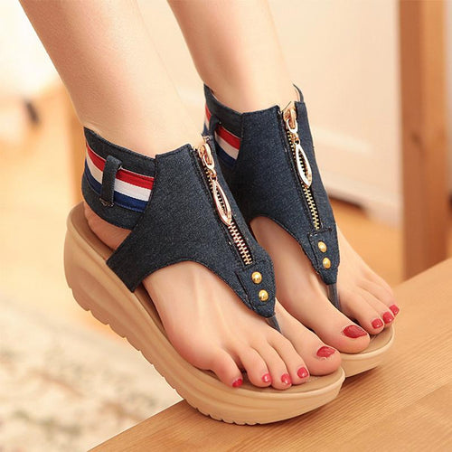 VL WOMENS CASUAL ZIPPER SANDALS - VansLovers.com