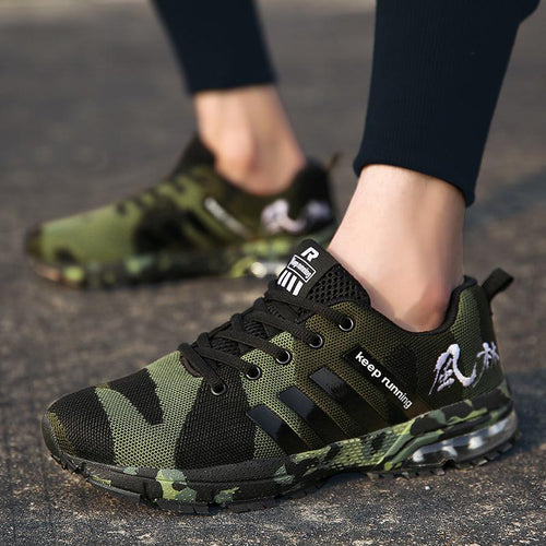 Men's Keep Running Camo Sneakers - VansLovers.com