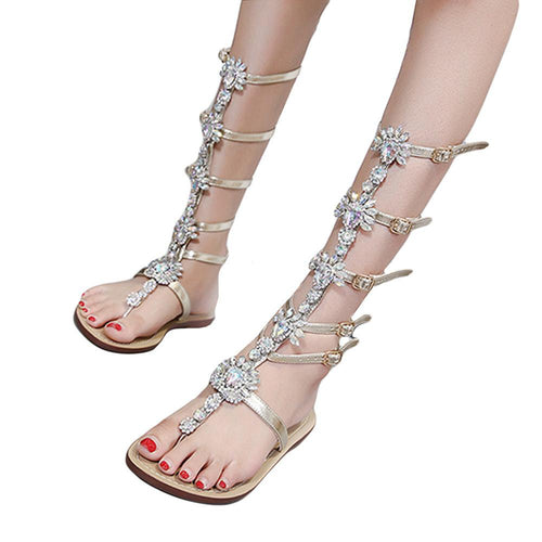VL WOMENS RHINESTONES GALORE GLADIATOR SANDALS - VansLovers.com