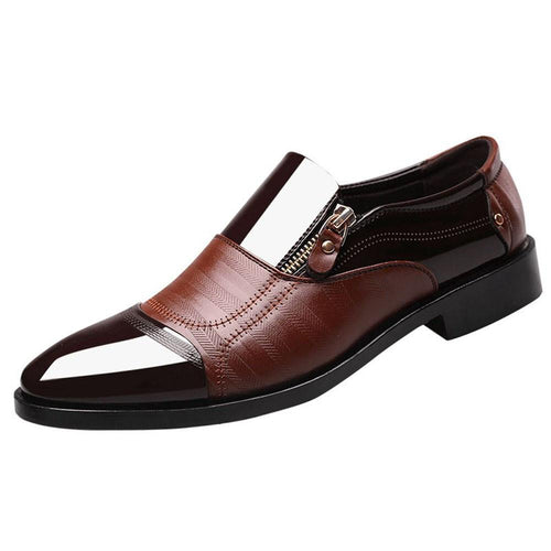 VL MENS CONTRAST FINISH BUSINESS DRESS SHOES - VansLovers.com
