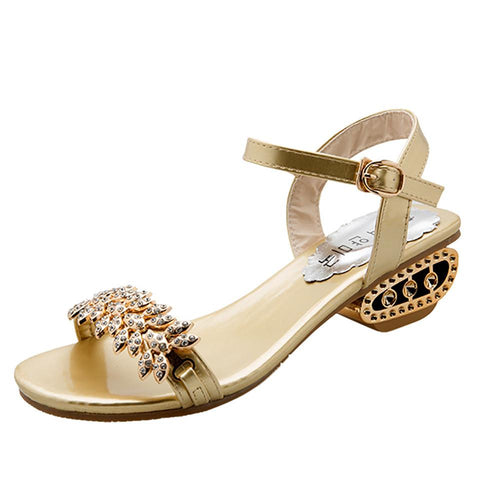 VL WOMENS BOHEMIAN JEWELED LOW HEEL SANDALS - VansLovers.com