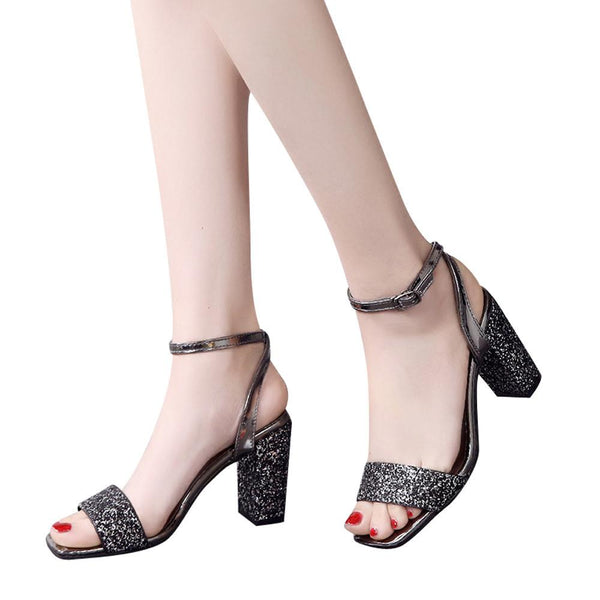 VL WOMENS GLITTER TIME HEELS - VansLovers.com