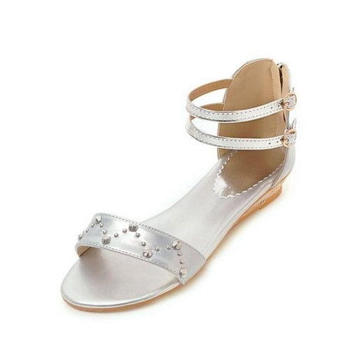 VL WOMENS LUMINOUS METALLIC FLAT SANDALS - VansLovers.com