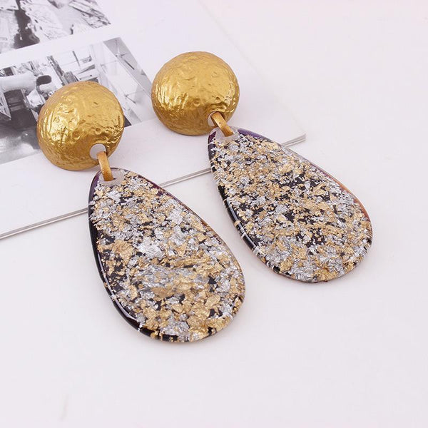 Gosfashion Personalized Simple Drop Resin Earrings