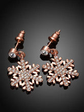 Load image into Gallery viewer, Romantic Snowflake Earrings