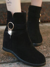 Load image into Gallery viewer, Rhinestone Fringed Martin Boots