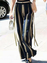 Load image into Gallery viewer, Fashion Casual Loose Strip High Waist Fringe Pant
