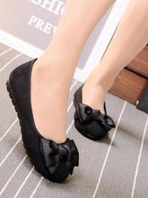 Load image into Gallery viewer, Solid Color Bow Flat Shoes