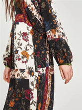 Load image into Gallery viewer, Vacation Fashion Retro Loose Floral Puff Long Sleeve Maxi Dress