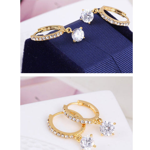 Gosfashion Basic Alloly Rhinestone Earrings