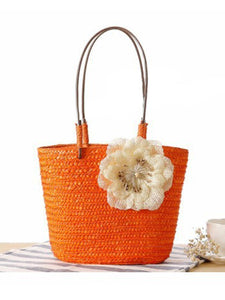 Gosfashion Straw Large Capacity Beach Bag