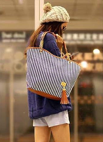 Gosfashion Single Back Chain Tassel Casual Bag