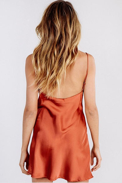 Gosfashion Sexy Backless Sleeveless Mini Dress