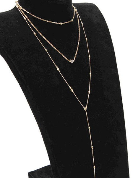Gosfashion Three Pieces Long Necklaces For Women