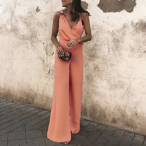 Gosfashion Sexy Fashion Plain Sleeveless Jumpsuit
