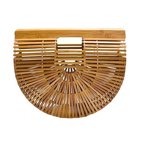 Gosfashion Women Straw Bag Bohemian Bali Rattan Beach Handbag