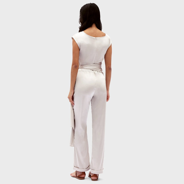 Gosfashion Loose Wild Knotted Small Design Jumpsuit